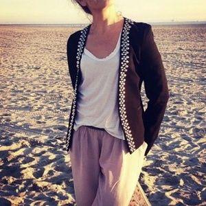 Trina turk studded blazer